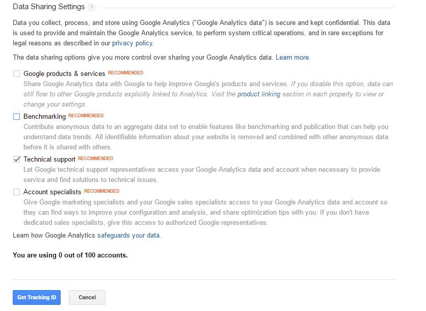 get google analytics tracking code