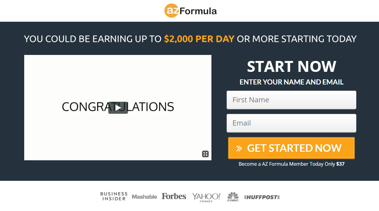 AZ Formula Exposed !!! Will You Really Make $2,000/Day?
