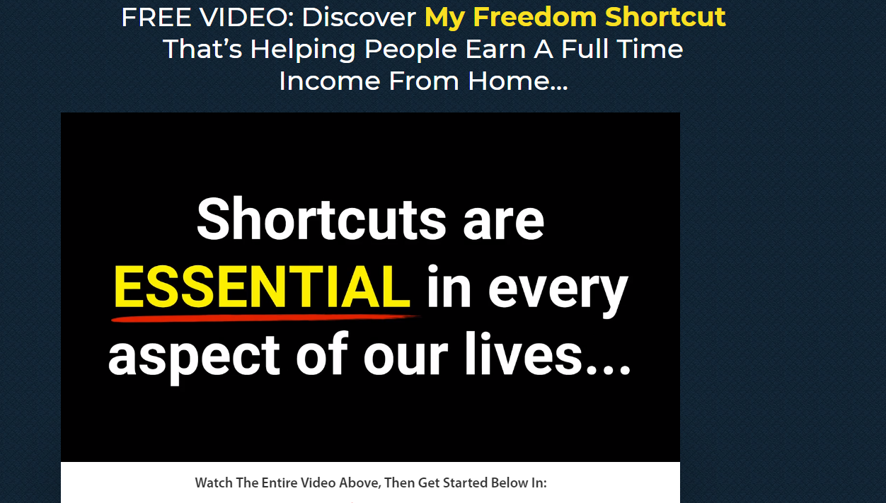The freedom shortcut