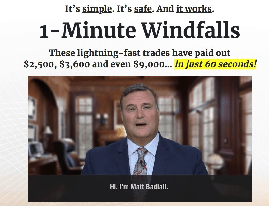 what is 1 minute windfalls about